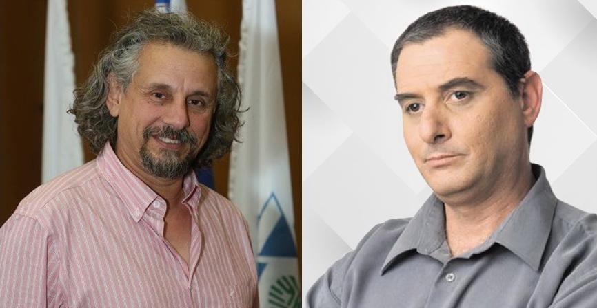מימין לשמאל: יעקב בכר וסילביו חוסקוביץ'