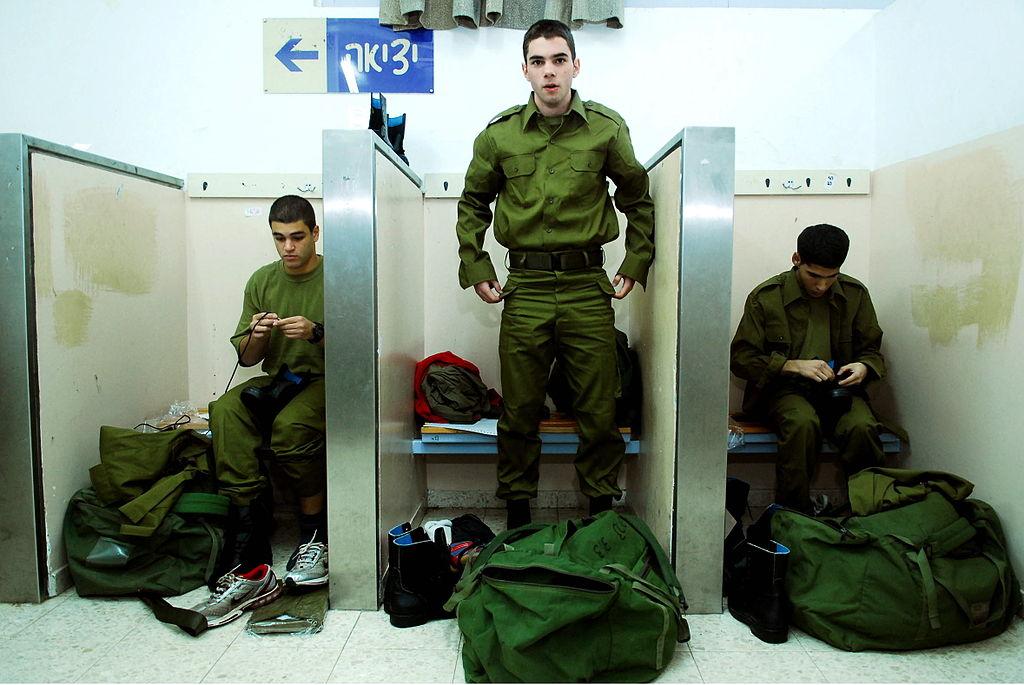 """חיילים ביום גיוסם לצה""""ל. צילום: דובר צה""""ל"""