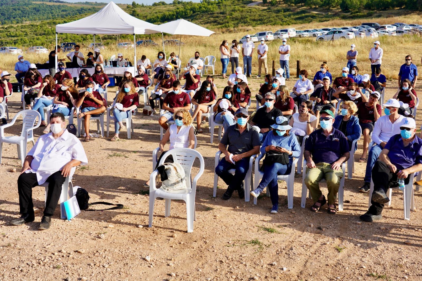 המשתתפים השנה בטקס המצומצם