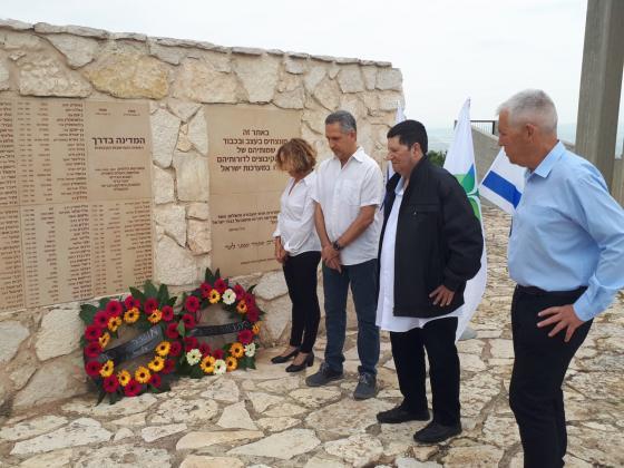 מטה התנועה באנדרטת הקיבוצים: זוכרים את בנינו ובנותינו, חברי וחברות הקיבוצים שנפלו במערכות ישראל ובפעילות טרור