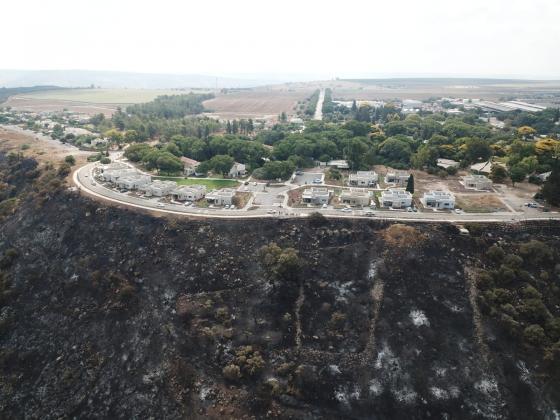 ערבות הדדית לכיבוי השריפה בכפר חרוב
