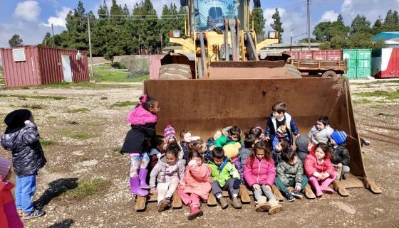 תמונת השבוע - ילדי הגן בקיבוץ אורטל 20.2